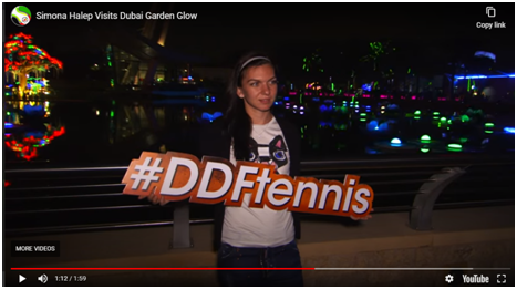 A PR Collaboration off court: Dubai Garden Glow X Dubai Duty Free Tennis Championship